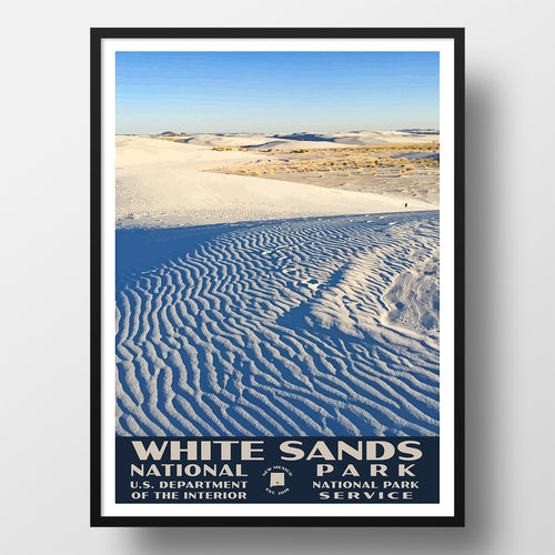 White Sands National Park Poster WPA
