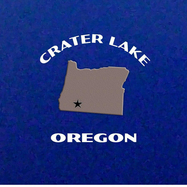 Crater Lake National Park Poster-Wizard Island