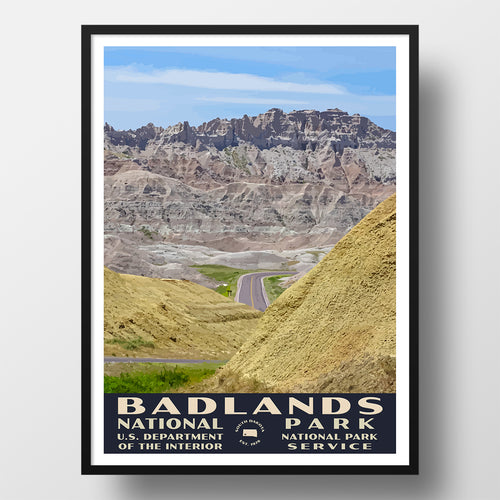 Badlands National Park WPA Poster, Yellow Mounds Overlook