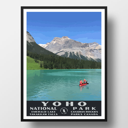 Yoho National Park Poster, Ermerald Lake