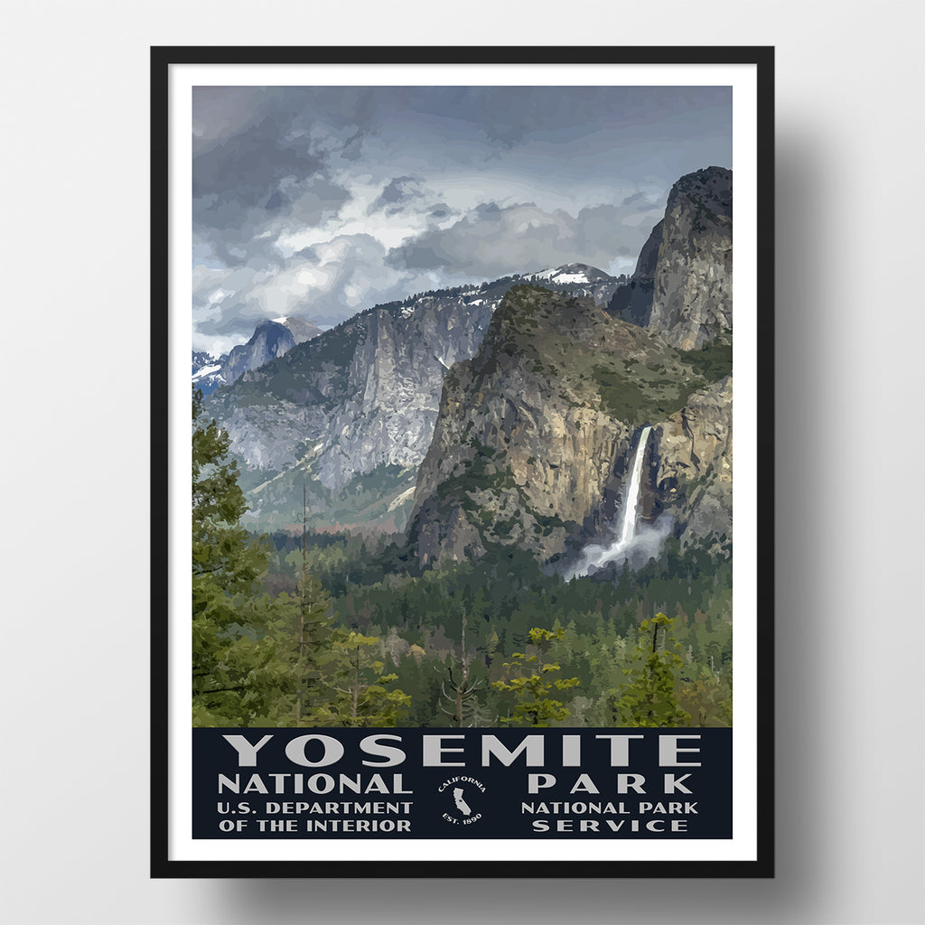 Yosemite Falls and Half Dome National Park Poster