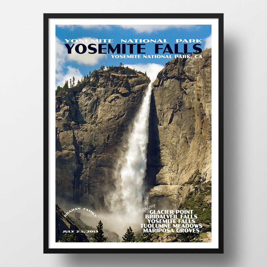 Yosemite National Park Poster-Yosemite Falls (Personalized)