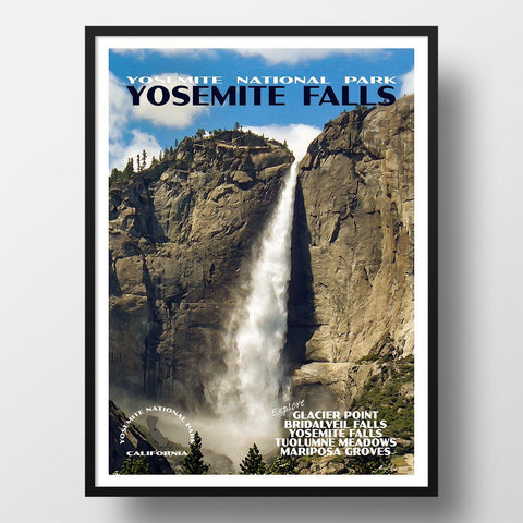 Yosemite National Park Poster-Yosemite Falls