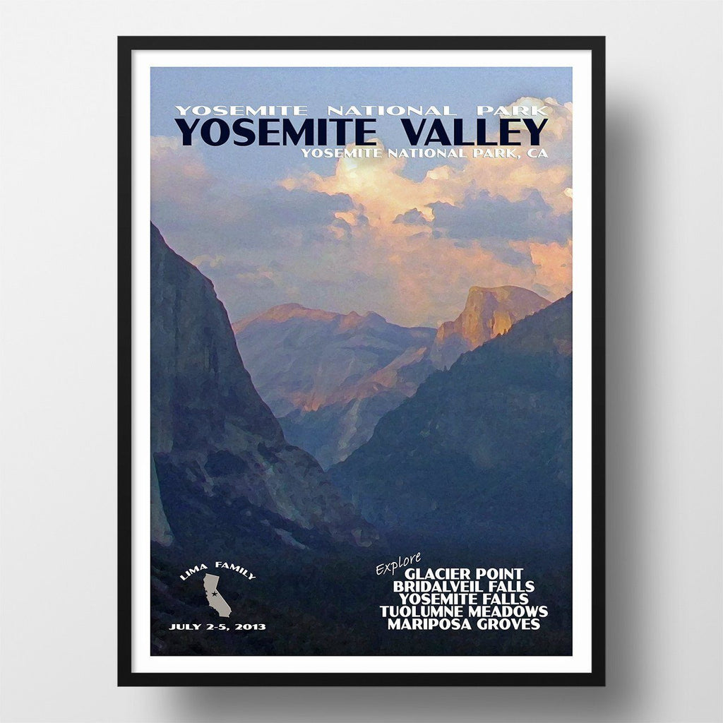 Yosemite National Park Poster-Yosemite Valley (Personalized)