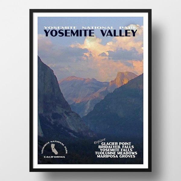Yosemite National Park Poster-Yosemite Valley