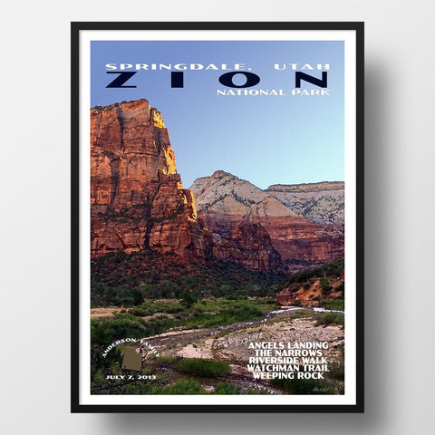 Zion National Park Poster-Zion (Personalized)