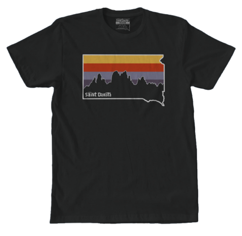 South Dakota Needles Logo Saint Dakota Highway Tee T-shirt Custer Custer State Park Black Hills