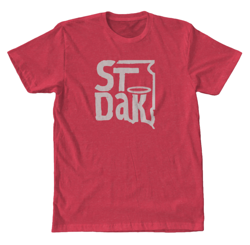 Saint Dakota Clothing (South Dakota) Square Logo Tee (Red)