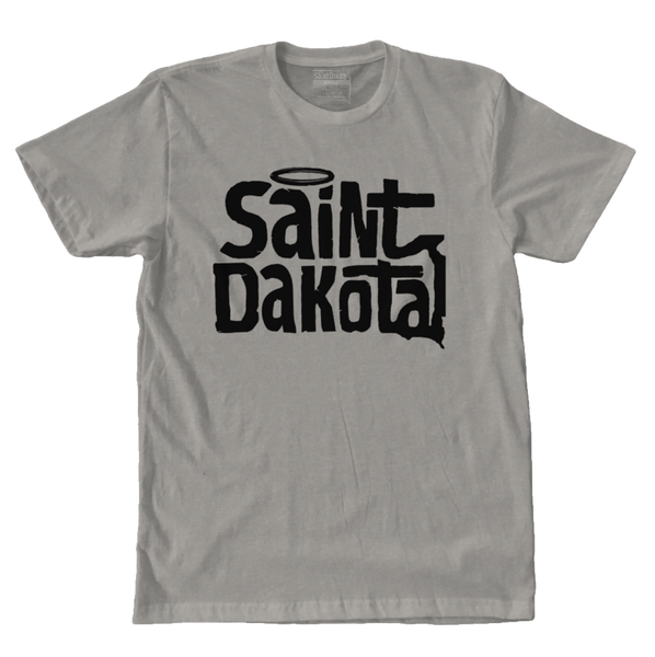 Saint Dakota Clothing (South Dakota) Flagship Logo t-shirt Heather Gray