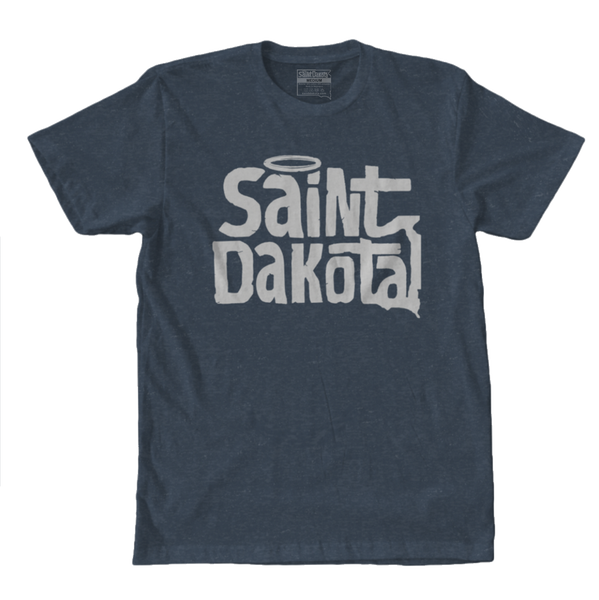 Saint Dakota Clothing (South Dakota) Flagship Logo t-shirt Navy Blue