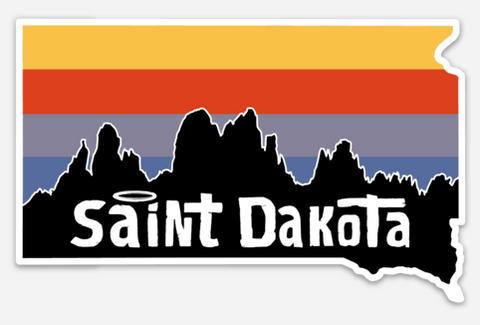 Saint Dakota (South Dakota) Sticker Needles Vinyl Black Hills