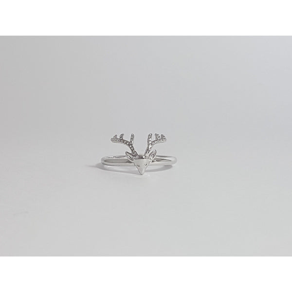 925 Sterling Silver Plated Reindeer Ring