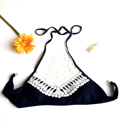 The Lakota Boho Chic Bikini Top- Black - Lakota Inspirations