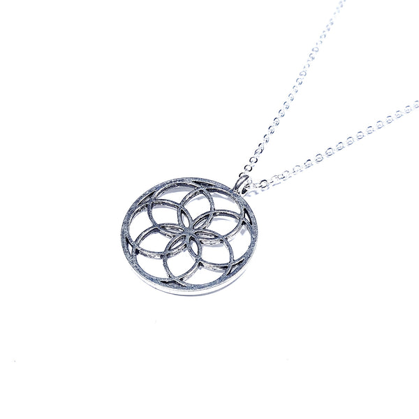 Sacred Geometry Seed of Life Silver Pendant