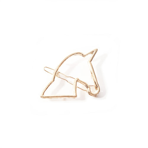 Gold Unicorn Hair Clip - Lakota Inspirations
