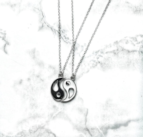 Yin Yang Charm Chain Necklace Set