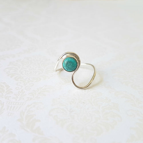 Adsila Turquoise Sterling Silver Ring - Lakota Inspirations