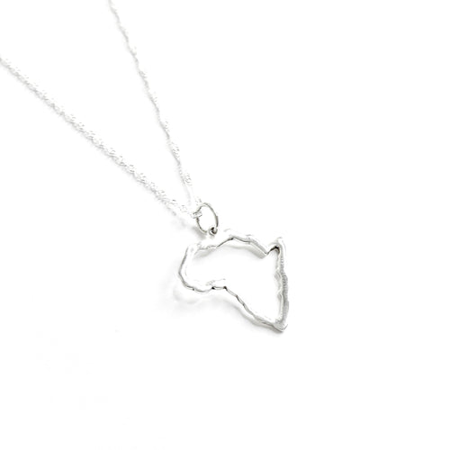 Sterling Silver Africa Pendant Necklace - Lakota Inspirations
