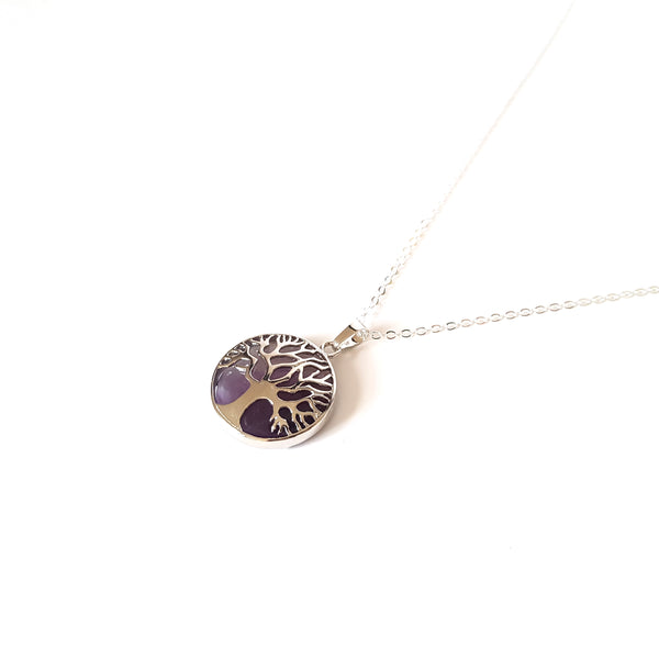 Tree of Life Crystal Necklace- Amethyst - Lakota Inspirations