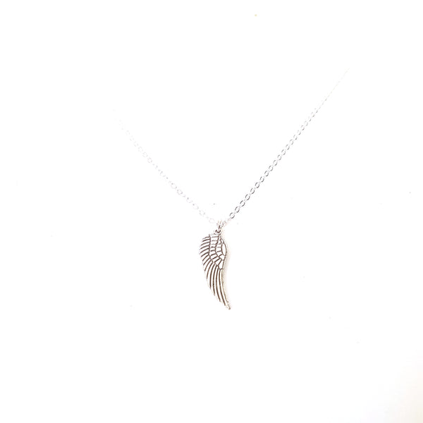 Angel Wing Charm Chain Necklace - Lakota Inspirations