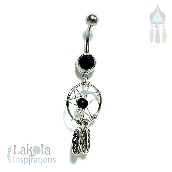 316L Stainless Steel Dream Catcher Belly Ring - Lakota Inspirations
