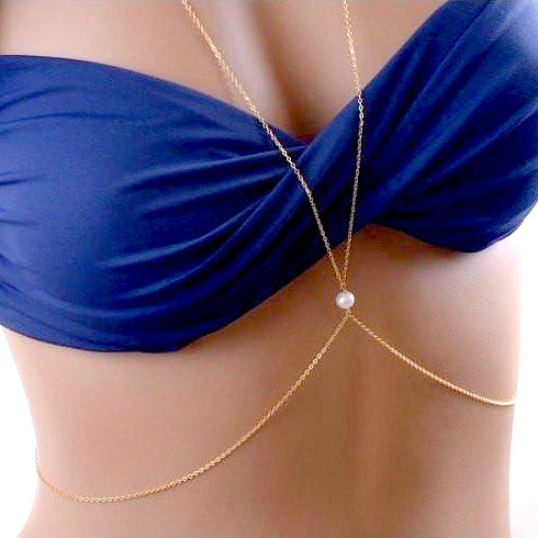 Body Chain with Single Pearl Detail - Lakota Inspirations