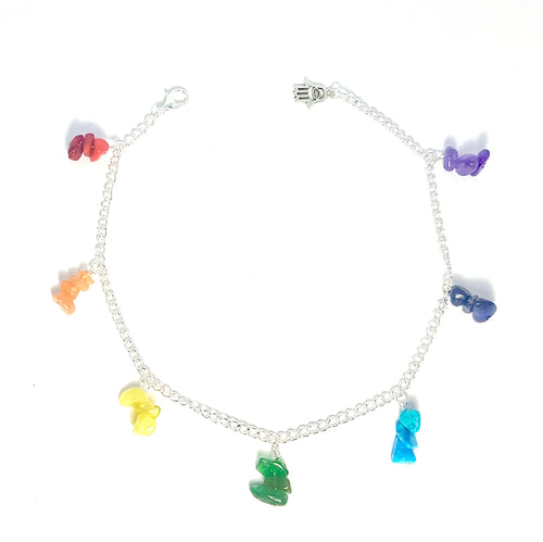 Chakra Gemstone Chain Anklet - Lakota Inspirations