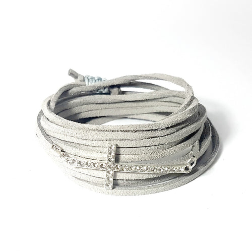 Diamante Cross 3-in-1 Wrap Bracelet/Anklet/Necklace - Lakota Inspirations
