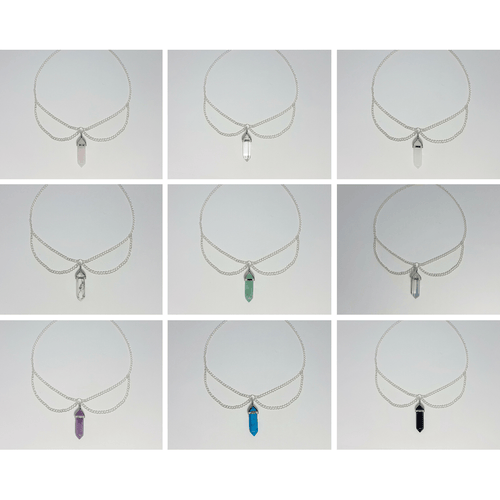 The Lakota Crystal Designer Chain Chokers (Assorted) - Lakota Inspirations