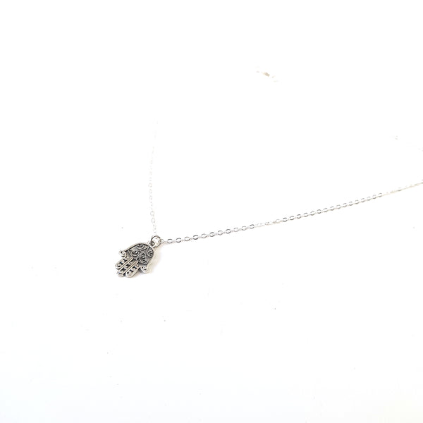 Dainty Hamsa Hand Charm Chain Necklace - Lakota Inspirations