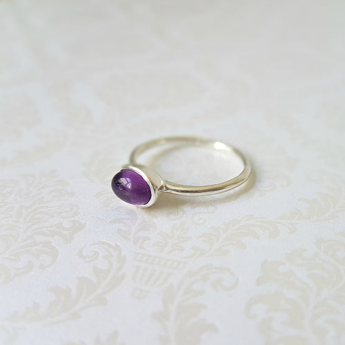 Delicate Amethyst Sterling Silver Ring - Lakota Inspirations