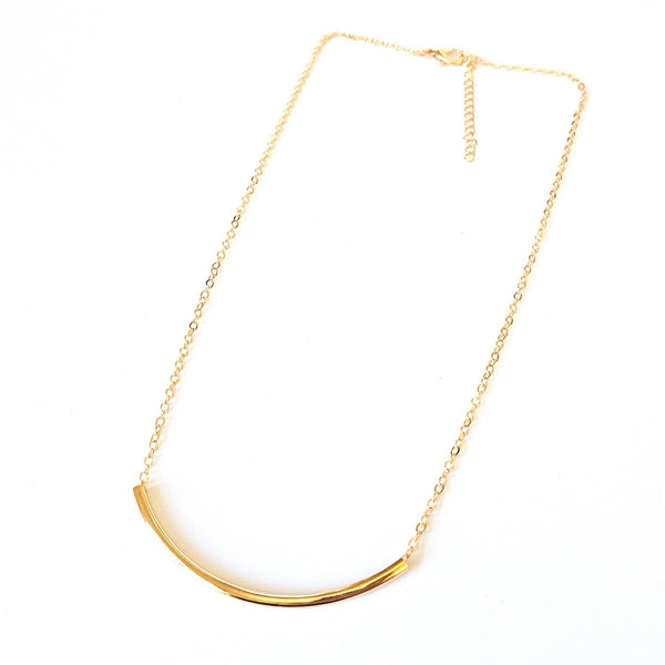 Delicate Gold Bar Necklace - Lakota Inspirations