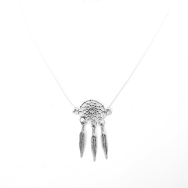 Doubled Ended Dream Catcher Chain Necklace - Lakota Inspirations