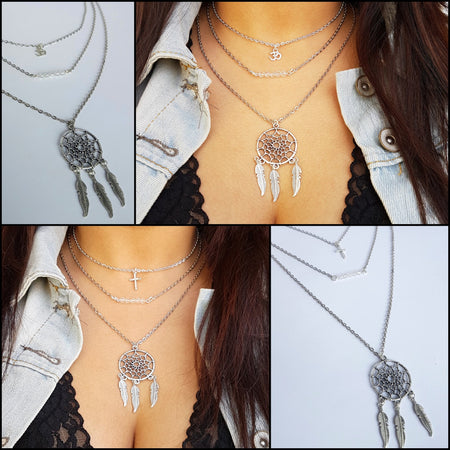 Spring-time Magic Layered Necklace