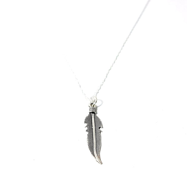 925 Sterling Silver Feather Necklace - Lakota Inspirations