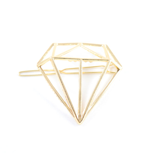 Gold Diamond Hair Clip - Lakota Inspirations