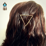 Gold Triangle Hair Clip - Lakota Inspirations
