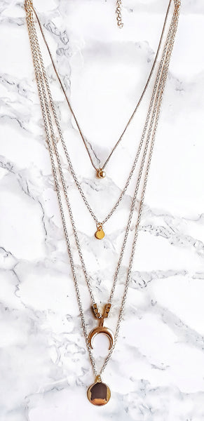 Golden Hour Layered Necklace - Lakota Inspirations