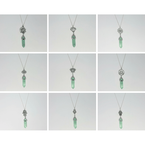 Green Fluorite Crystal Designer Charm Necklace (Assorted) - Lakota Inspirations