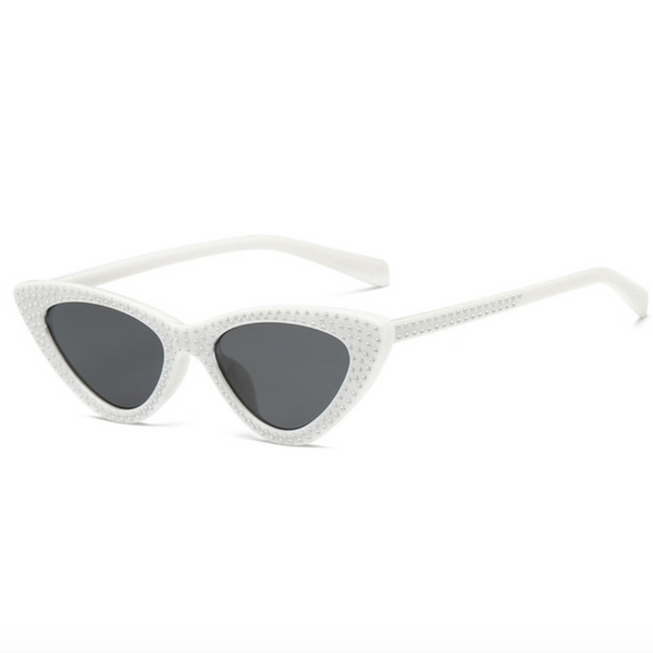 Infinite Ibiza Studded ☆ White Sunglasses