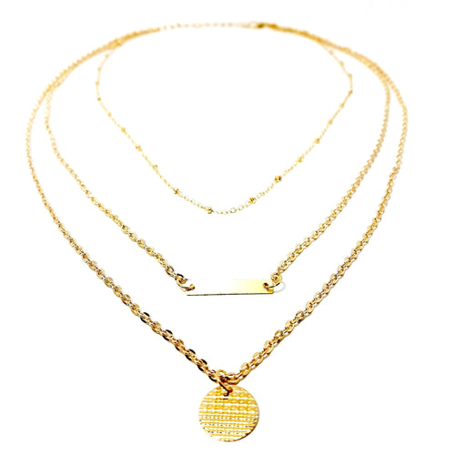 The Gold Medallion Layered Necklace - Lakota Inspirations