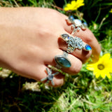 Goddess Luna Labradorite Sterling Silver Ring - Lakota Inspirations