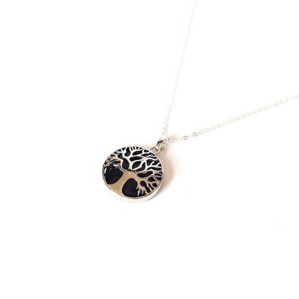 Tree of Life Crystal Necklace- Onyx - Lakota Inspirations