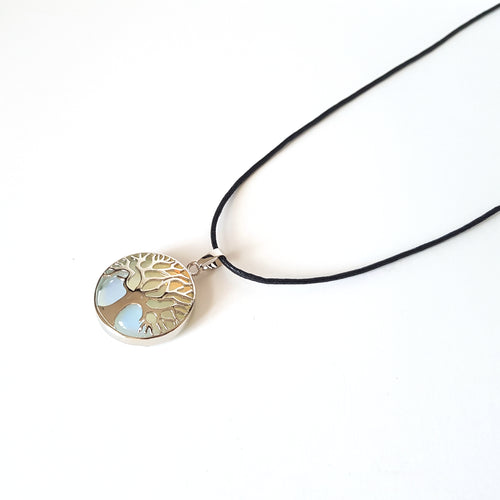 Tree of Life Crystal Necklace- Opalite - Lakota Inspirations