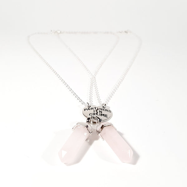 Partners in Crime Rose Quartz Necklace set - Lakota Inspirations