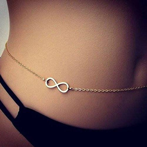 Silver Infinity Charm Belly Chain