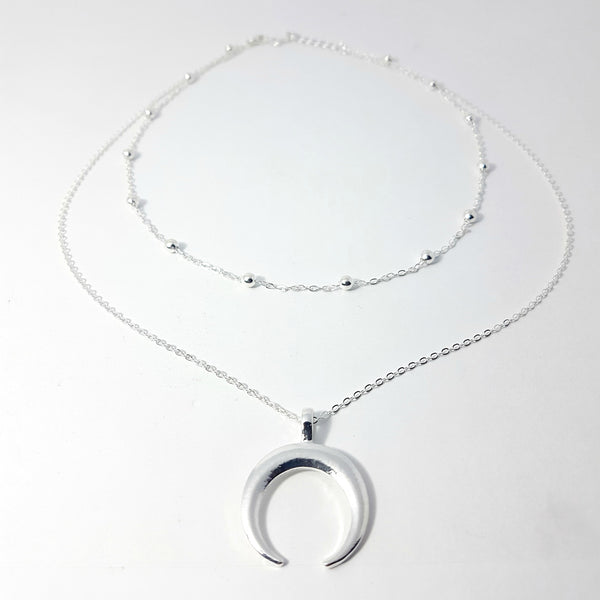 The Crescent Moon Layered Necklace - Lakota Inspirations