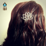Silver Lotus Hair Clip - Lakota Inspirations