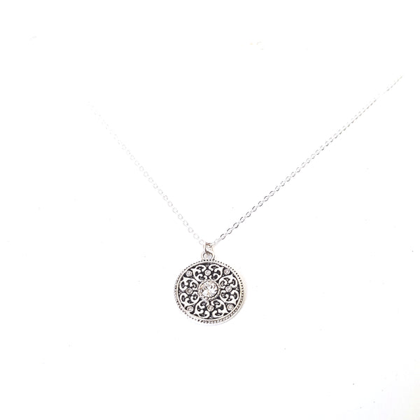 Silver Medallion Chain Necklace - Lakota Inspirations