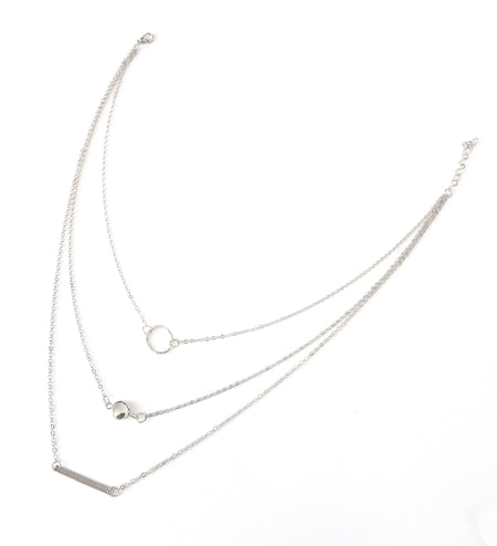 The Crescent Moon Layered Necklace